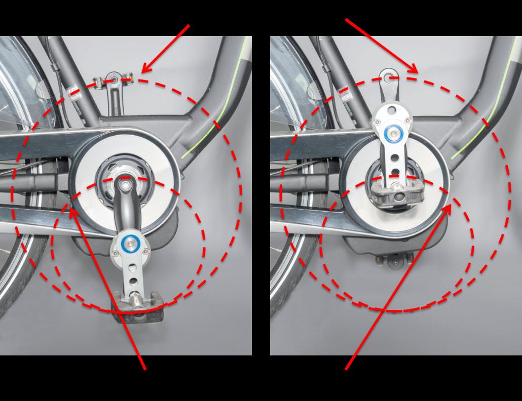 Fiets hulpmiddel voor fiets, hometrainer of ergometer.